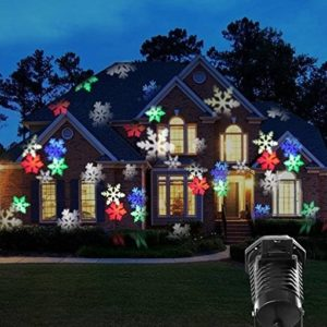outdoor holiday projector